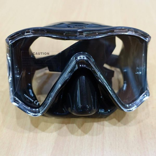 Mares i3 Mask blue frame with clear skirt