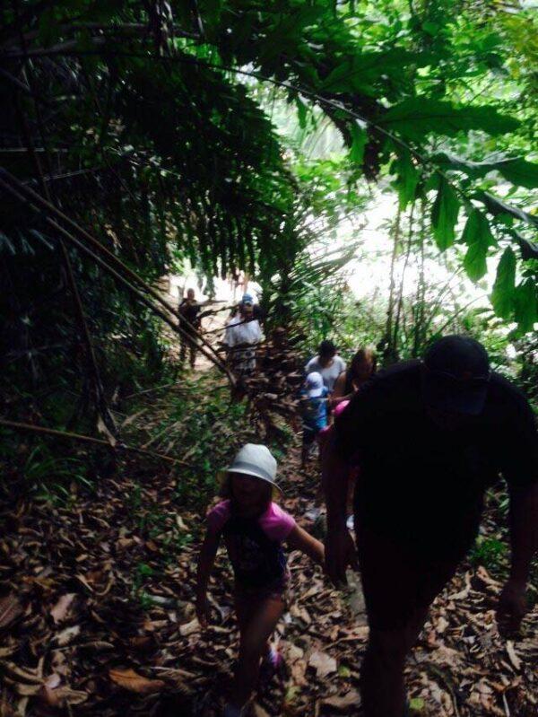 trekking on Gaya Island