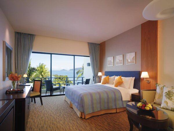 Comfortable bedrooms at Shangri-la Tanjung Aru Resort and Spa