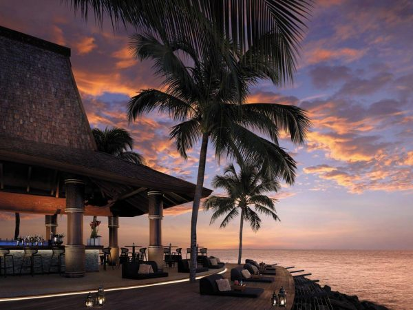 Sunset bar at resort