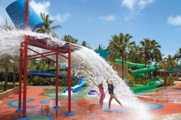 Water park and attractions at Tanjung Aru Resort in Kota Kinabalu