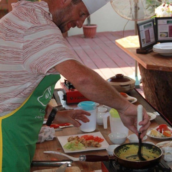 In action at a Borneo Traditional Cooking Class