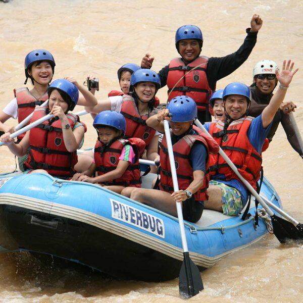 White Water Rafting Kiulu River, Sabah, Malaysia