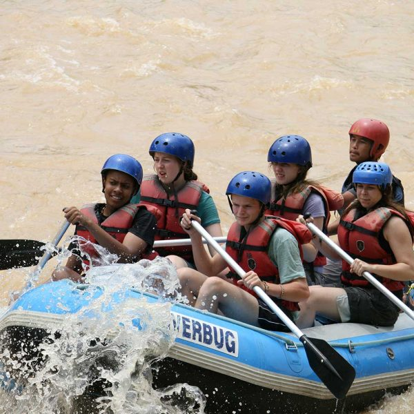 White water rafting great for the whole family | Sabah Borneo