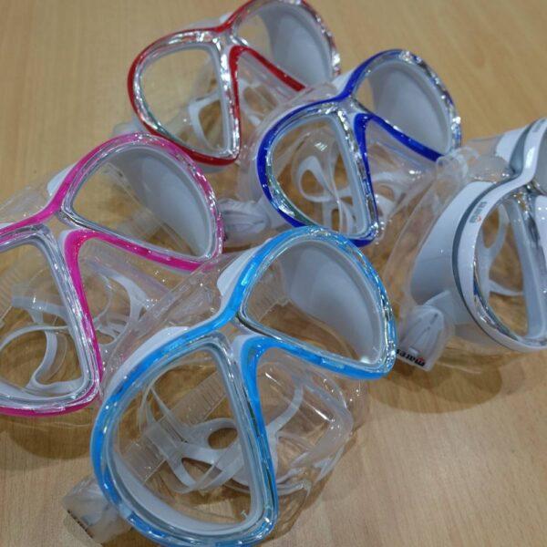 Scuba diving and snorkeling masks, the Mares X-VU Sunrise Liquid Skin mask