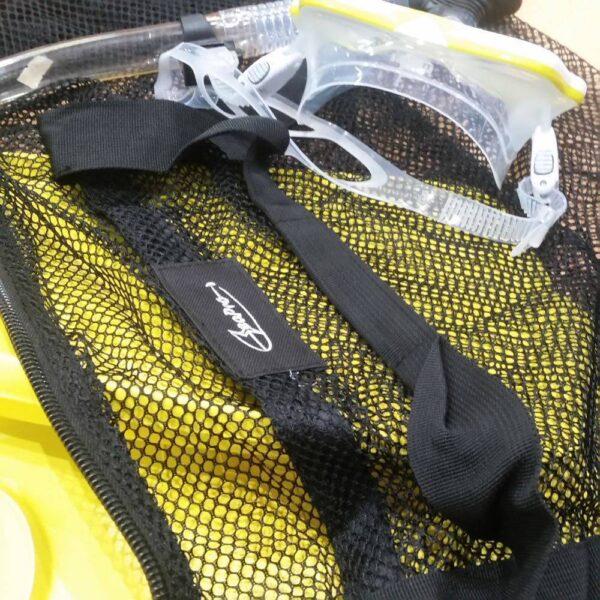 Mesh dive bag for snorkelling trips in Kota Kinabalu
