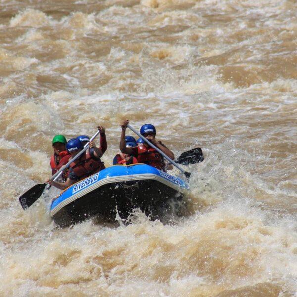White water rafting, Sabah, Malaysia