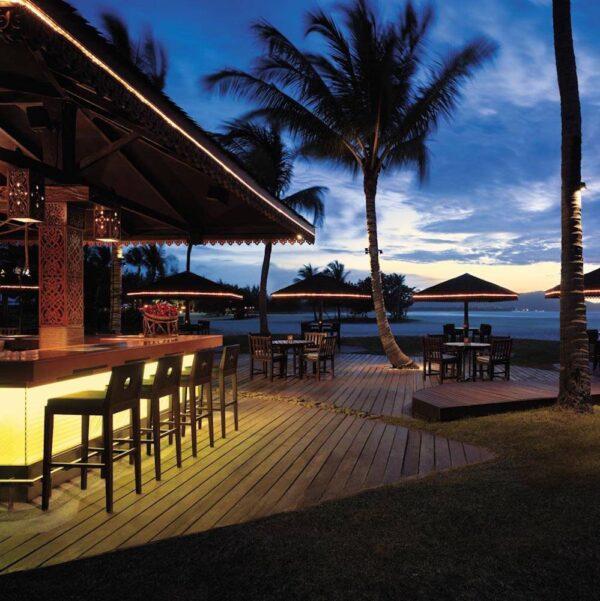 Sunsets and bars at the Rasa Ria Resort, Malaysia