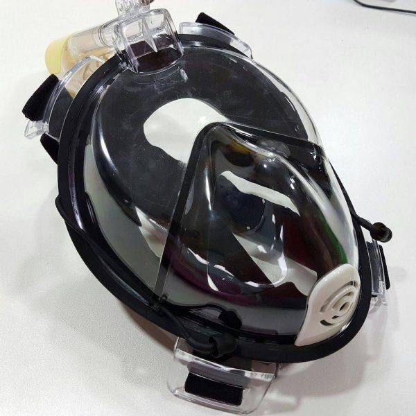 L/XL Full face snorkelling mask in black