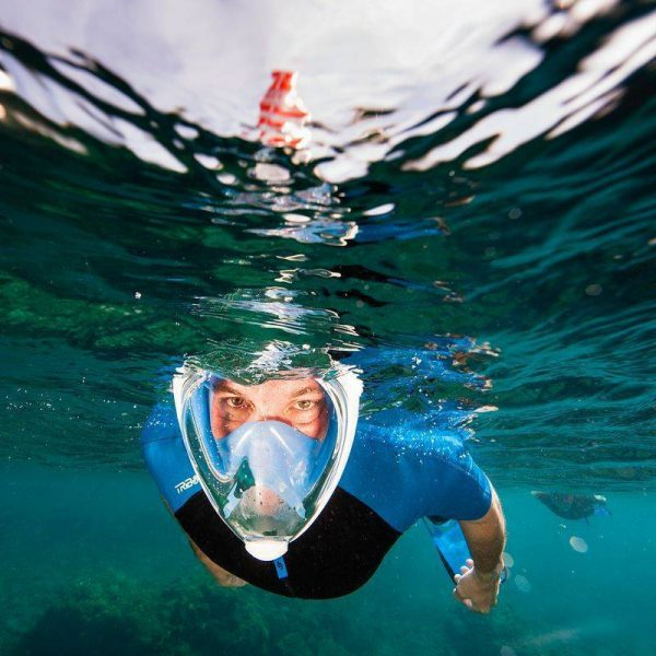 Enhance the snorkelling experience with the Triboard EastyBreath full face snorkel mask
