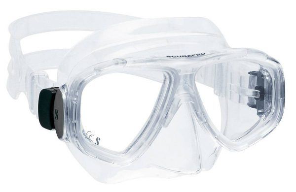 Scubapro Fino Mask with clear frame and skirt.