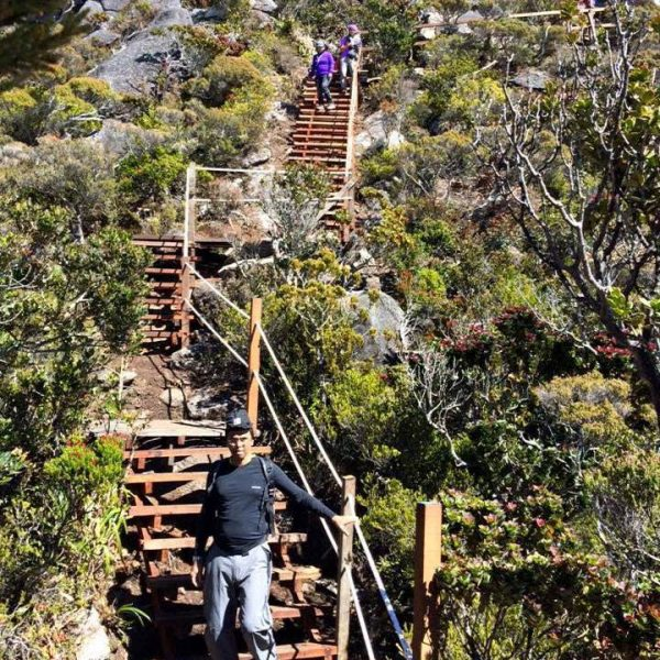 Trek route to Low's Peak Summit