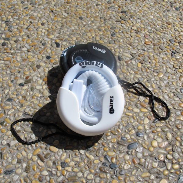 White foldable snorkel by Mares