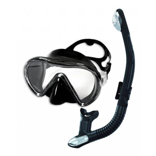 Mares Vento snorkel set in black.
