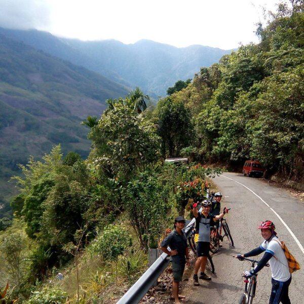 Mountain Biking through the  Foothills near Mount Kinabalu, Sabah
