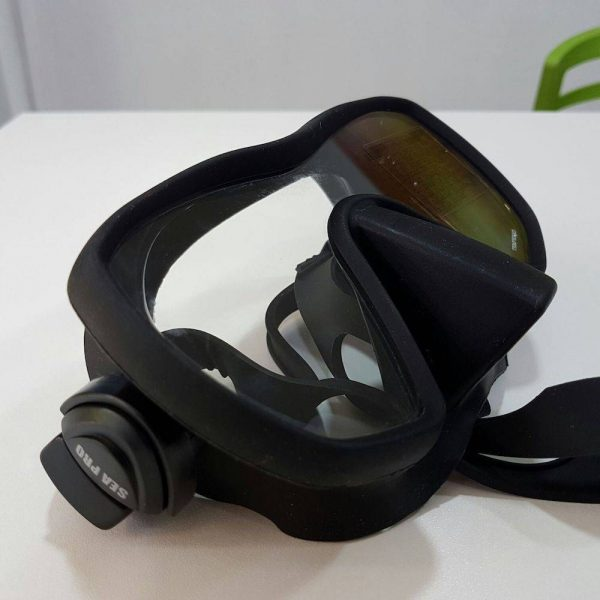 The SeaPro frameless mask ideal for scuba diving or snorkeling