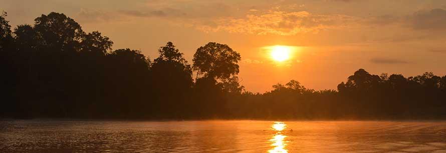 Sunset, Kinabatnagan River Cruise in Sabah, Borneo
