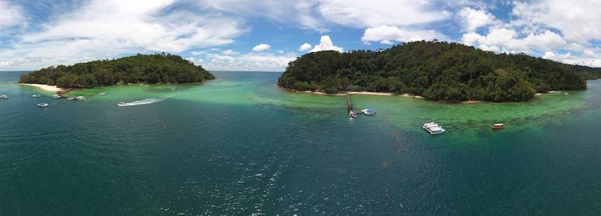 Scuba Diving and Marine Conservation in Tunku Abdul Rahman Marine Park, Borneo